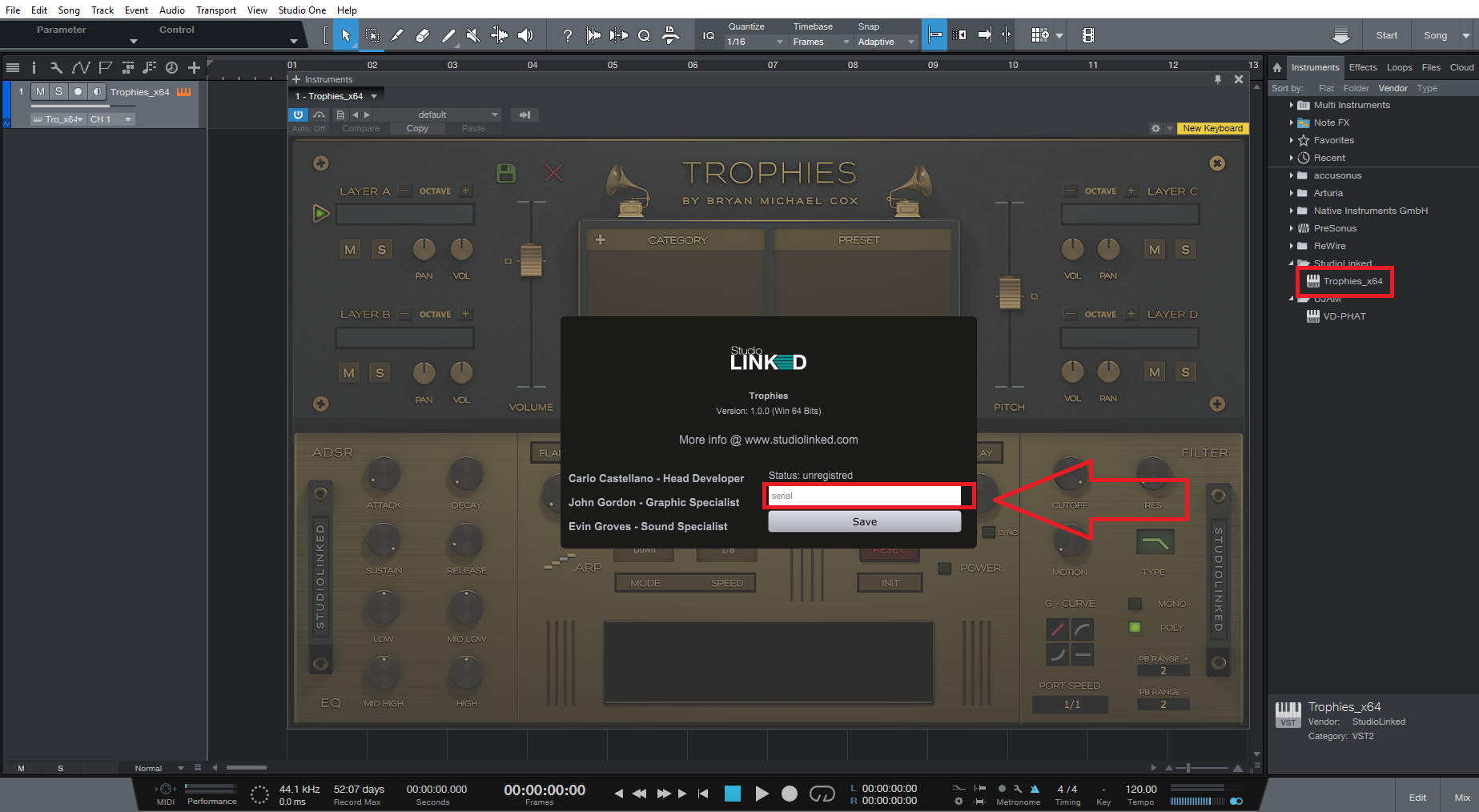 New - Installing the Studio Linked Trophies Plug-in that comes with
