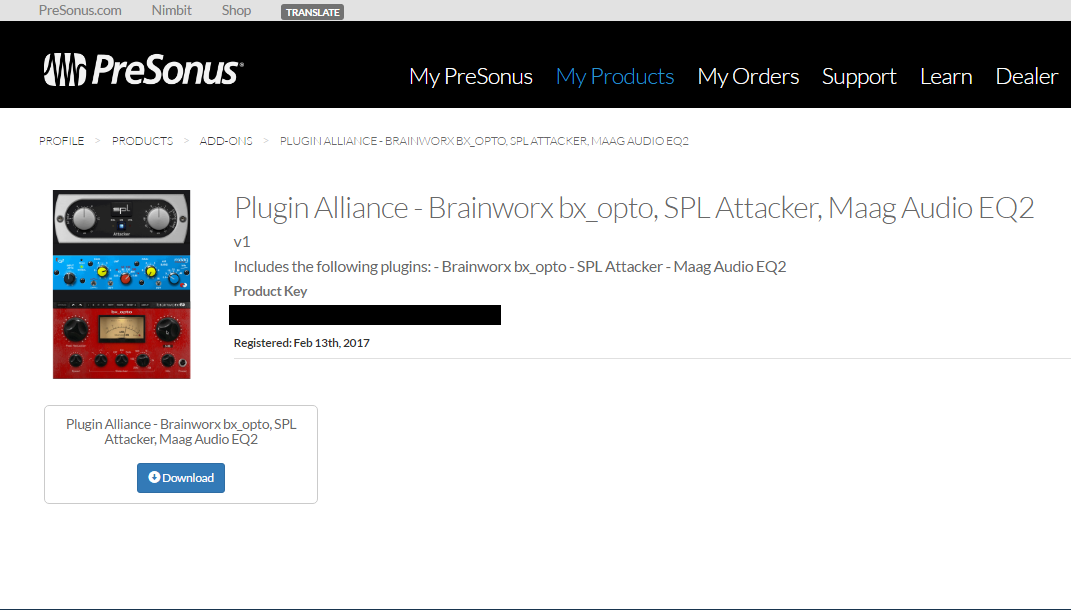 Installing the Plugin Alliance - Brainworx bx_opto, SPL